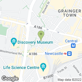Map of Happy Chip in Newcastle Upon Tyne, tyne and wear