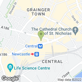 Map of Slaters in Newcastle Upon Tyne, tyne and wear