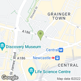 Map of at sisters in Newcastle Upon Tyne, tyne and wear