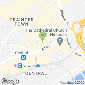 Map of Evening Chronicle Sunshine Fund in Newcastle Upon Tyne, tyne and wear