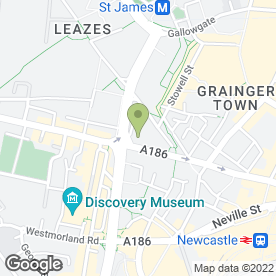 Map of Paramount Healthcare in Newcastle Upon Tyne, tyne and wear