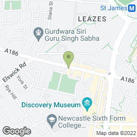 Map of Hunters Motorcycles in Newcastle Upon Tyne, tyne and wear