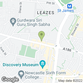 Map of Classic Motorcycle Dealers in Newcastle Upon Tyne, tyne and wear