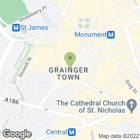 Map of 1860 Suit Hire at Greenwoods Menswear Ltd in Newcastle Upon Tyne, tyne and wear