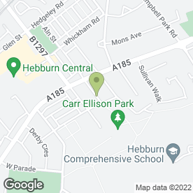 Map of Andrew Hastie Plumbing Ltd in Hebburn, tyne and wear