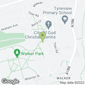 Map of Walker Medical Group in Walker, Newcastle Upon Tyne, tyne and wear