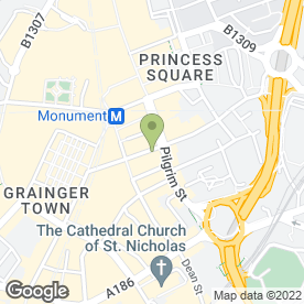 Map of Godfather Restaurant in Newcastle Upon Tyne, tyne and wear