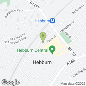 Map of AC Services (North East) Ltd in Hebburn, tyne and wear
