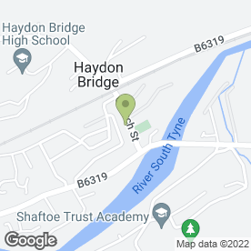 Map of The Railway Hotel in Haydon Bridge, Hexham, northumberland