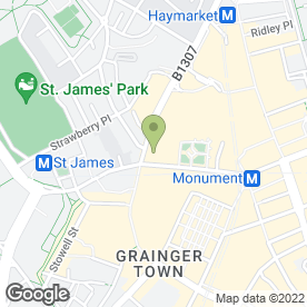 Map of Waitrose Ltd in Newcastle Upon Tyne, tyne and wear