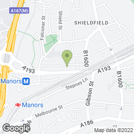 Map of Mattress Shop in Newcastle Upon Tyne, tyne and wear
