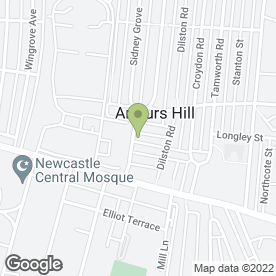 Map of Brighton Oriental Food Stores in Newcastle Upon Tyne, tyne and wear