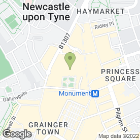 Map of Esquires Coffee Houses in Newcastle Upon Tyne, tyne and wear