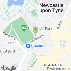 Map of CD Associates (UK) in Newcastle Upon Tyne, tyne and wear