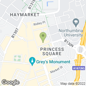 Map of GREENSTAR COMMERCIAL CLEANING in NEWCASTLE UPON TYNE, tyne and wear