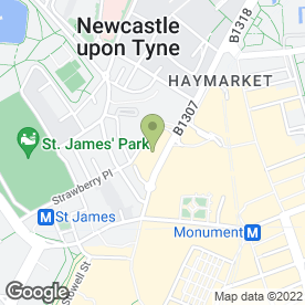 Map of Garden Kitchen in Newcastle Upon Tyne, tyne and wear
