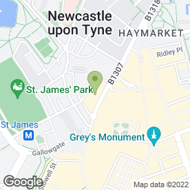 Map of Alexander Perry Photography in Newcastle Upon Tyne, tyne and wear