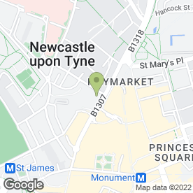 Map of Sunlight Service Group in Newcastle Upon Tyne, tyne and wear