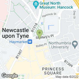 Map of Greggs in Newcastle Upon Tyne, tyne and wear
