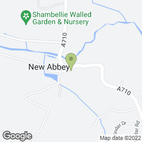 Map of Abbey Arms Hotel in New Abbey, Dumfries, dumfriesshire