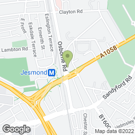 Map of A.A.K Properties in Jesmond, Newcastle Upon Tyne, tyne and wear