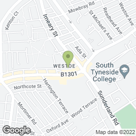 Map of Westoe Taxis Ltd in South Shields, tyne and wear