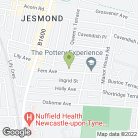 Map of Jesmond Tree Surgeons in Newcastle Upon Tyne, tyne and wear