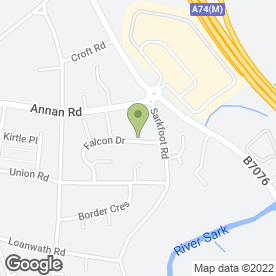 Map of Marsh Fencing & Paving Ltd in Gretna, dumfriesshire