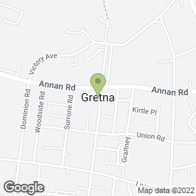 Map of Gretna Wedding Bureau in Gretna, dumfriesshire