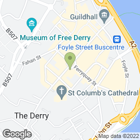 Map of Oakland Estate Agents in Londonderry, county londonderry