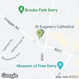 Map of St. Eugene's Primary School in Londonderry, county londonderry