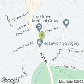 Map of Roseworth Avenue Surgery in Newcastle Upon Tyne, tyne and wear