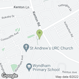 Map of Kenton Park Nursery School in Newcastle Upon Tyne, tyne and wear