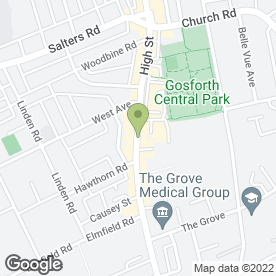 Map of Ahad Indian Tandoori Restaurant in Gosforth, Newcastle Upon Tyne, tyne and wear