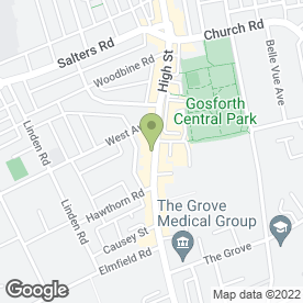 Map of Greggs in Gosforth, Newcastle Upon Tyne, tyne and wear