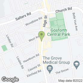 Map of EMMERSONS SOLICITORS in Gosforth, Newcastle Upon Tyne, tyne and wear