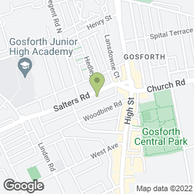 Map of The Reid Family Dental Practice in Gosforth, Newcastle Upon Tyne, tyne and wear