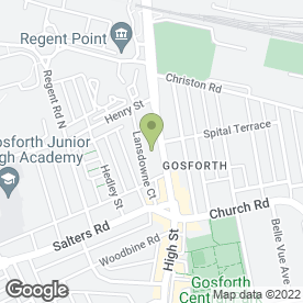 Map of Gosforth Beauty Clinic in Gosforth, Newcastle Upon Tyne, tyne and wear