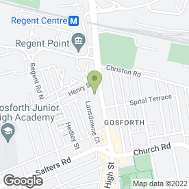 Map of Dental Solutions in Gosforth, Newcastle Upon Tyne, tyne and wear