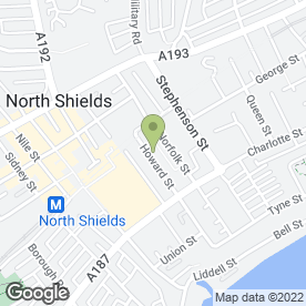 Map of Your Print Department in North Shields, tyne and wear