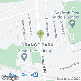 Map of Grange Dental Centre in Gosforth, Newcastle Upon Tyne, tyne and wear