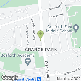 Map of ARC BATHROOMS & KITCHENS in Grange Park, Newcastle Upon Tyne, tyne and wear