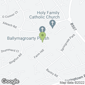 Map of Holy Family Primary School in Londonderry, county londonderry