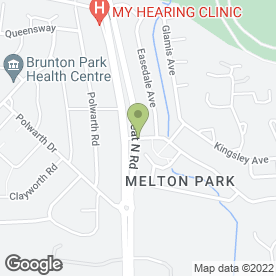 Map of Melton Park Hair & Beauty Centre in Newcastle Upon Tyne, tyne and wear