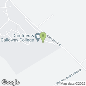 Map of Dumfries & Galloway College in Dumfries, dumfriesshire