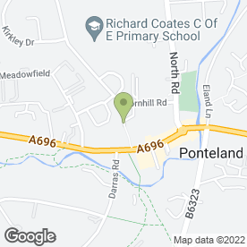 Map of Ponteland Hair & Beauty in Ponteland, Newcastle Upon Tyne, tyne and wear