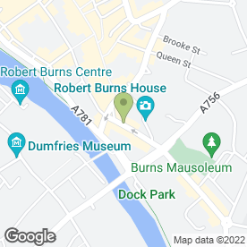 Map of Dumfries Hearing Centre Ltd in Dumfries, dumfriesshire