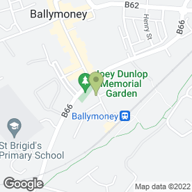 Map of Rachel Hynds Skin Care Clinic in Ballymoney, county antrim