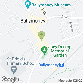 Map of McAfee Properties & Mortgages in Ballymoney, county antrim