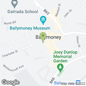 Map of Ferguson & Logue in Ballymoney, county antrim